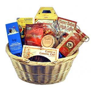 Gift Basket with coffee and coffee products