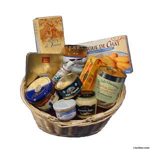 French Gift Basket packed full of products from France